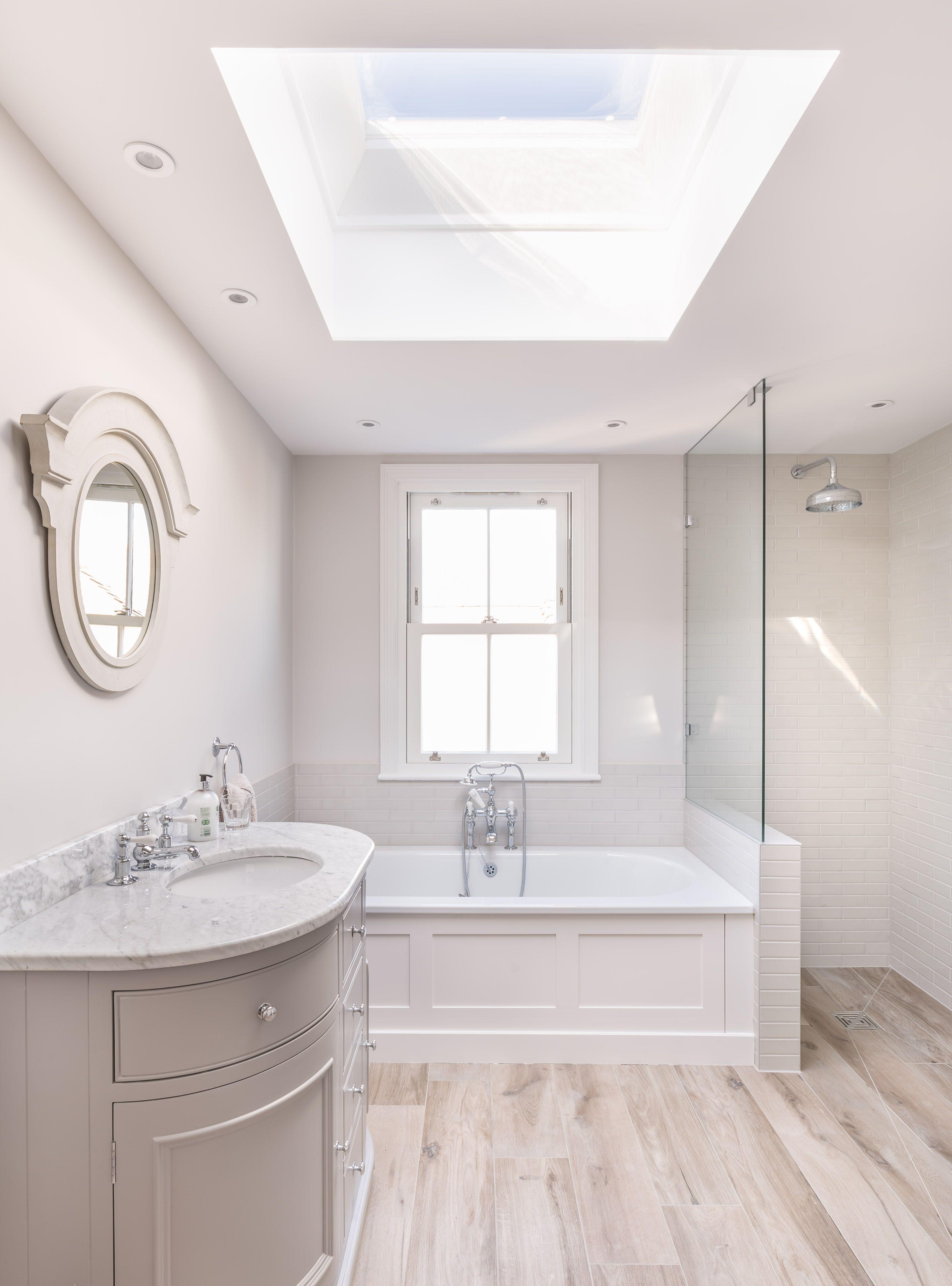 Modern victorian bathroom renovation   bath   walk in shower ...