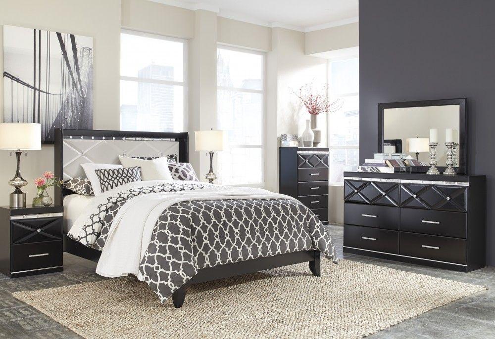 Fancee 4 Pc Bedroom Dresser Mirror Queen Panel Bed Bedroom Furniture Sets Bedroom Sets Queen Bedroom Set