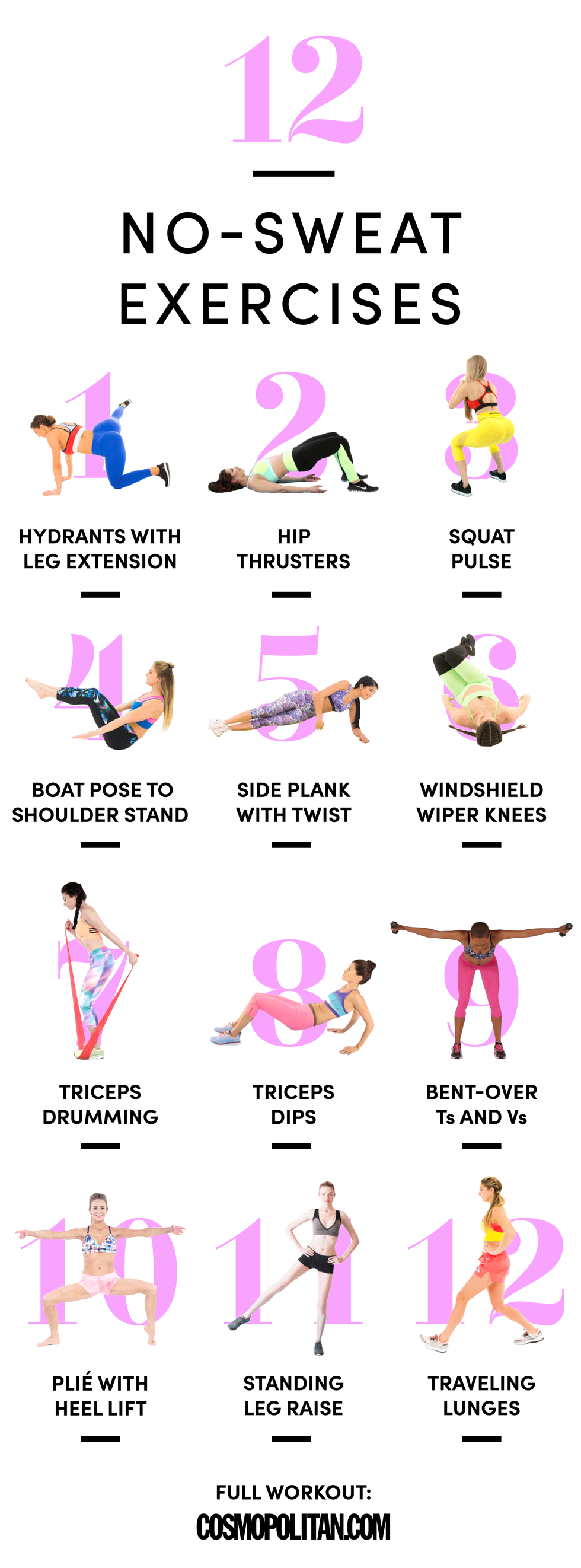 12 Moves to Firm Up From Head to Toe Without Getting Gross and Sweaty