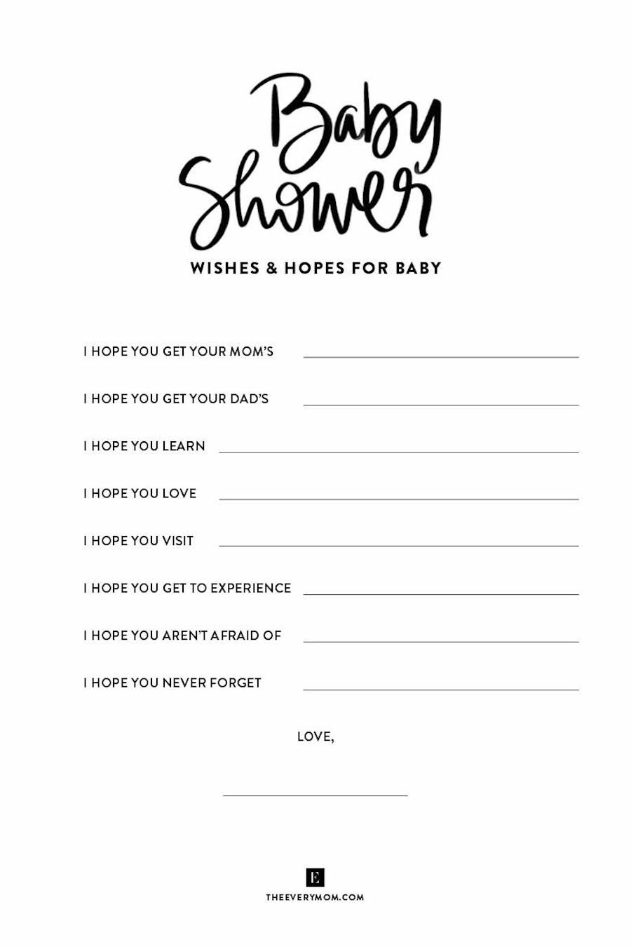 How To Throw A Virtual Baby Shower Plus Free Printable Games For You To Use Baby Shower Wishes Virtual Baby Shower Baby Shower