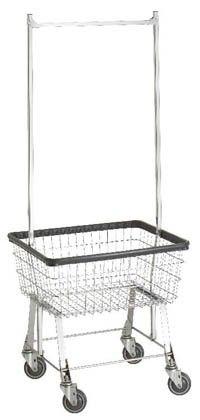 96b58 R B Wire Economy Laundry Cart W Double Pole Rack 126 00