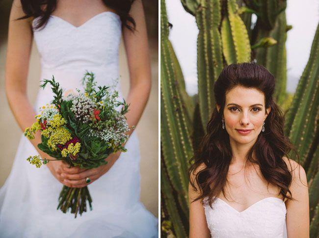 Lovely wedding and wonderful hair - Botanical Inspired Wedding from South Africa: Josi + Jamess