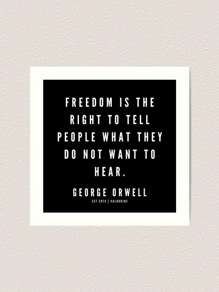 66  | George Orwell Quotes | 190529 | Black Art Print by valourine