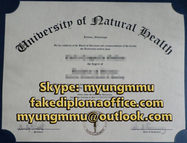 Buy Fake University Of Natural Health Degree With Images