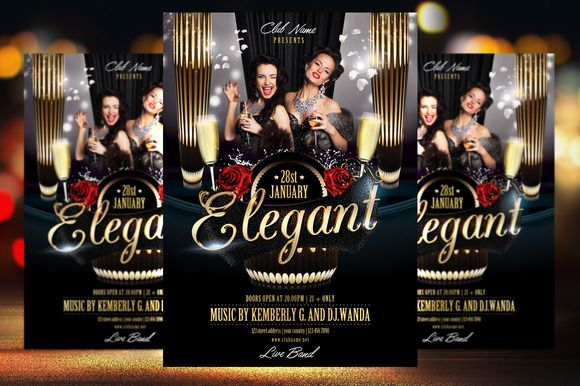 Check out Elegant Party Flyer Template by Briell Design on ...