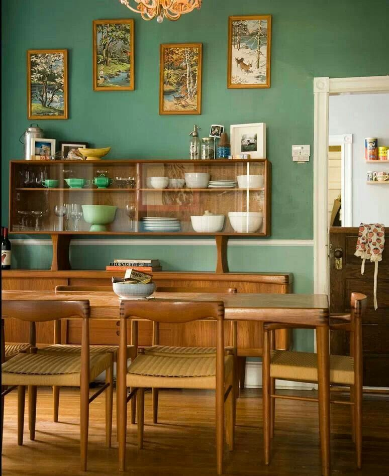 Danish Home Design Ideas: Paint Color For Kitchen Or Dining Room? Green Looks Nice