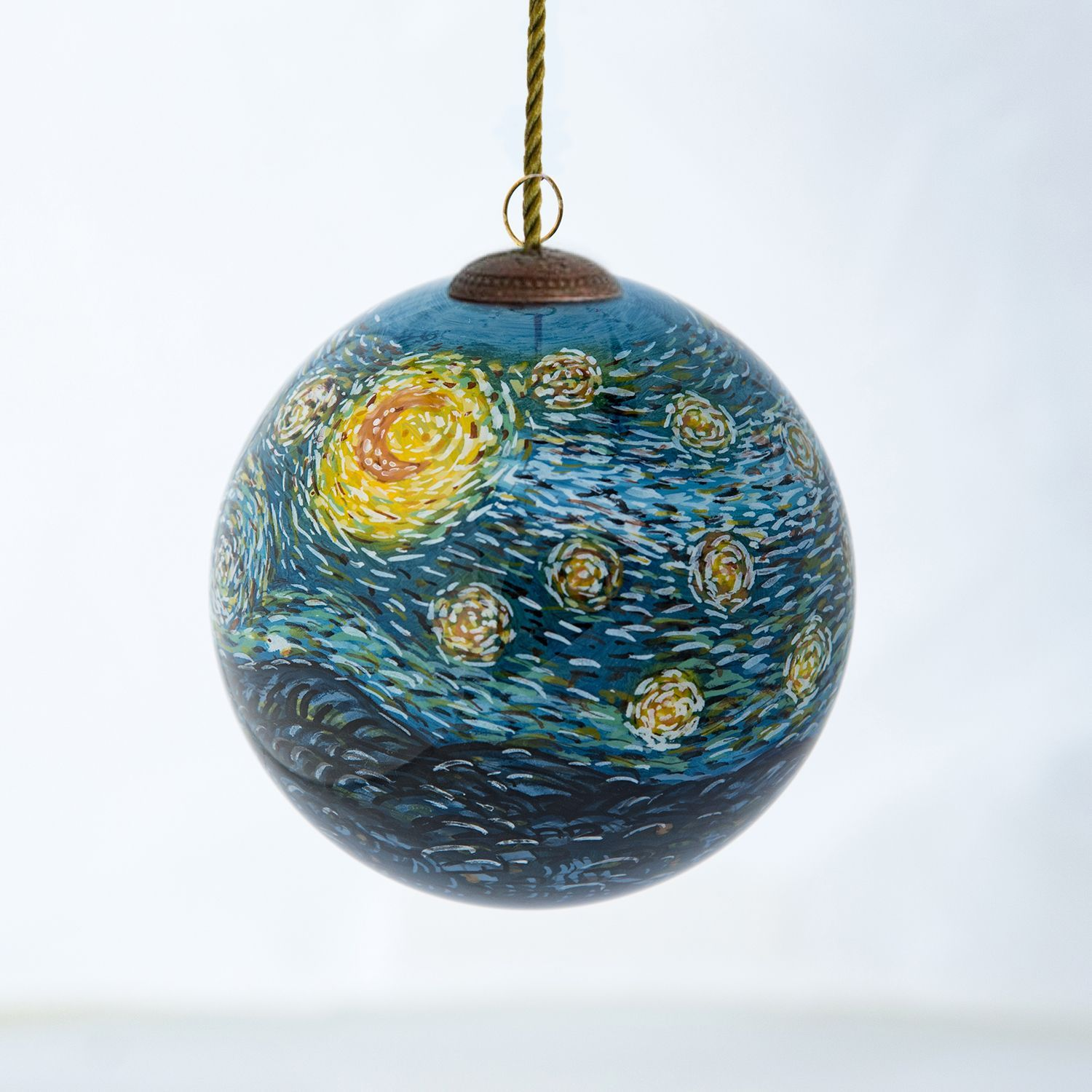 Porcelain Oranments Starry Night Christmas Ornament