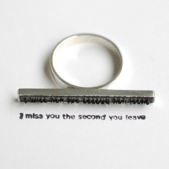 stamp ring by Vancouver jewellery artist Colleen Baran | ring ...