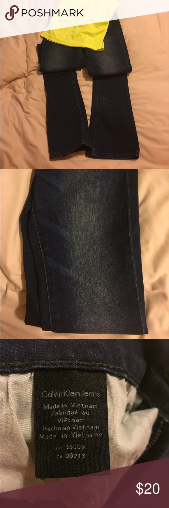 Calvin Klein jeans Dark wash, boot cut, Calvin Klein ladies jeans. Size 26/2 fits more like a size 0. Calvin Klein Jeans Boot Cut