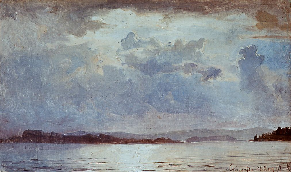 Artist Gude Hans Title Tordenskyer Over Chiemsee Creation Date 1867 Materials And Techn Painting List Of Paintings Landscape Artist