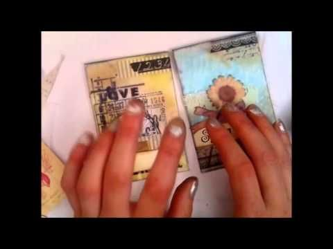 Tutorial part 2 of 4 - a fun way to decorate glassine bags for your mini albums