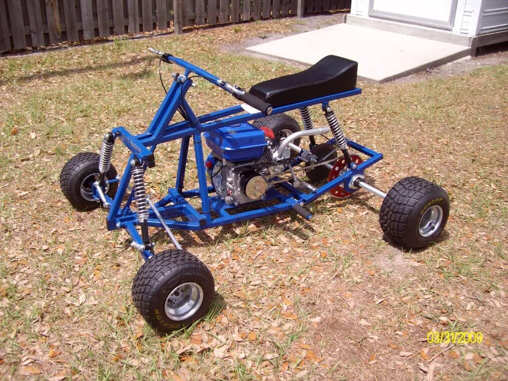 Grasshopper Gas Powered 4 Wheeler Independent 4 Wheel