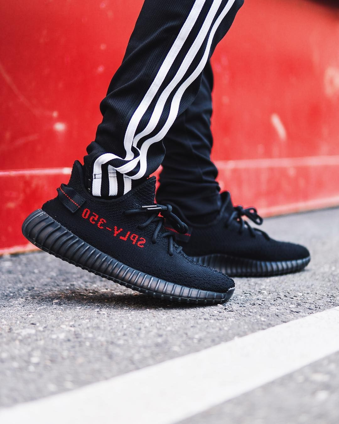 Yeezy Boost 350 V2 Black Red With Images Yeezy Adidas Yeezy