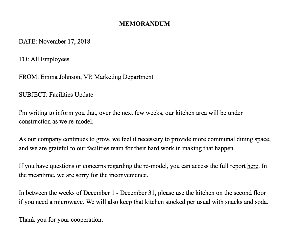 How To Write A Memo Template Examples Business Memo Memo Template Memo Writing