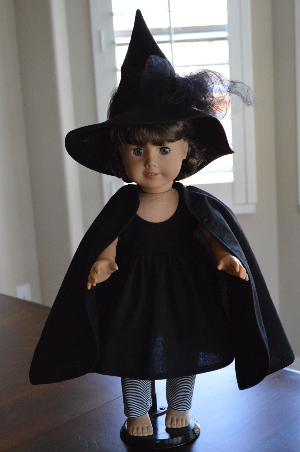 Witch Costume 4 Pieces, Dress, Cape, Leggings, Hat, American Girl ...