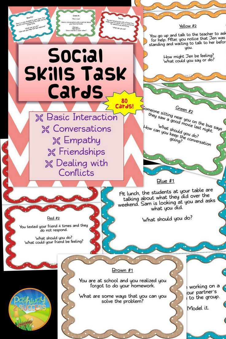 Social Skills Task Cards Distance Learning Teaching