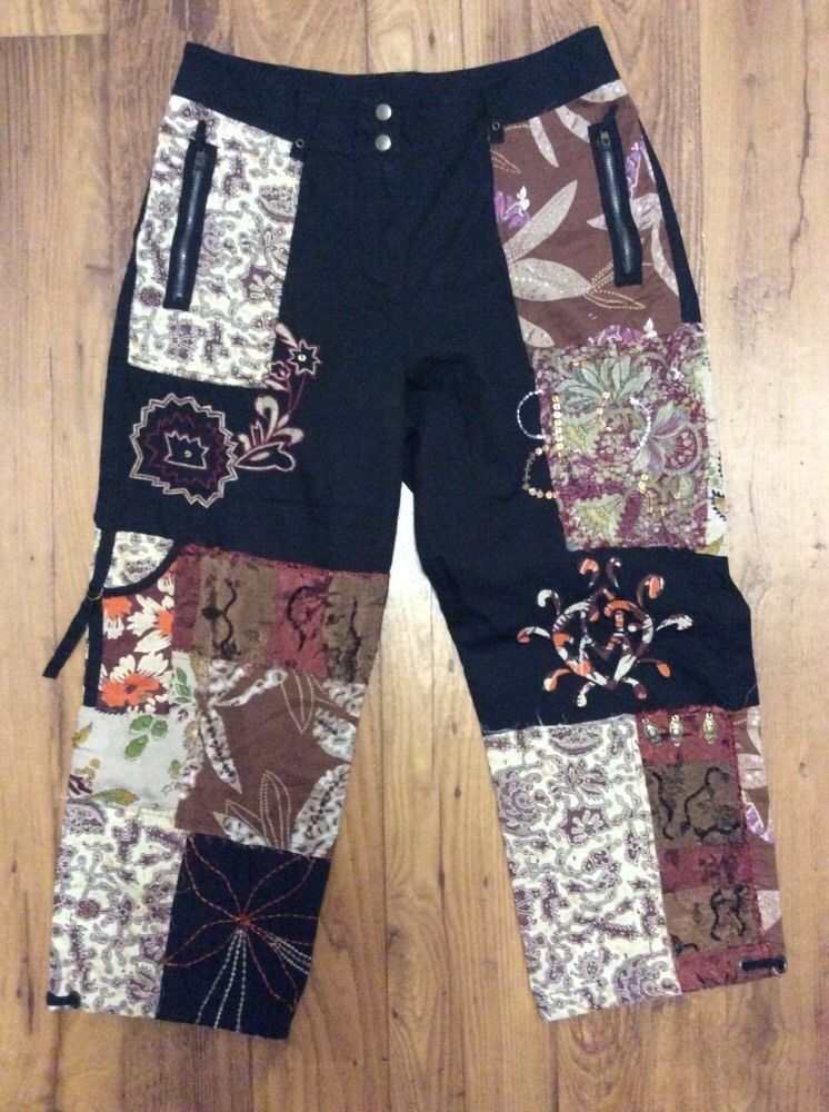Chico's Travelers Multi Colored Silk Blend Cropped Capri Pants Sz 1.5 8 - 10 in Clothing, Shoes & Accessories, Women's Clothing, Pants   eBay
