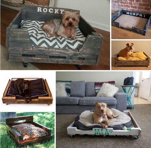 Camas para perros y gatos hechas con palets