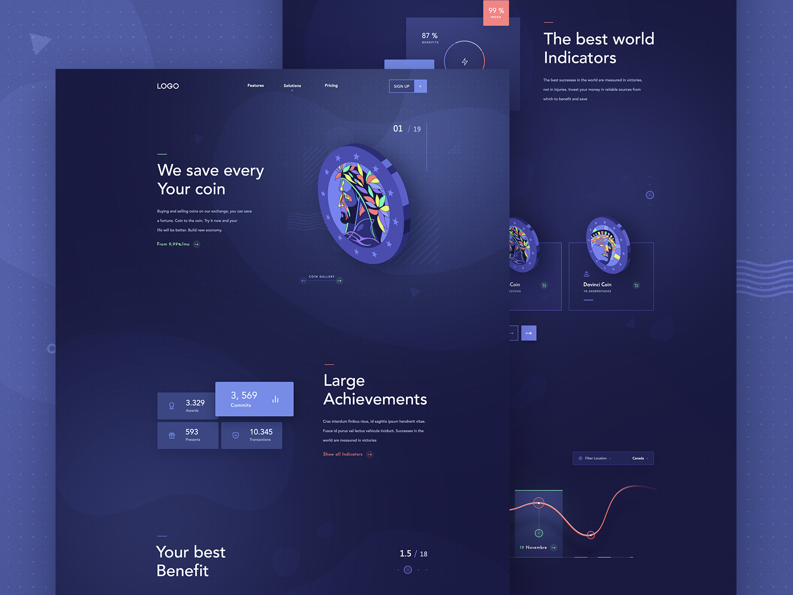 Crypto Landing Page Interactive Design Landing Page Website Template Design