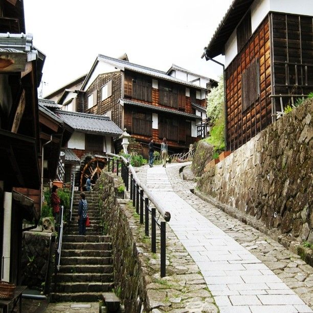 Magome (馬籠) is a post town in the Kiso Valley