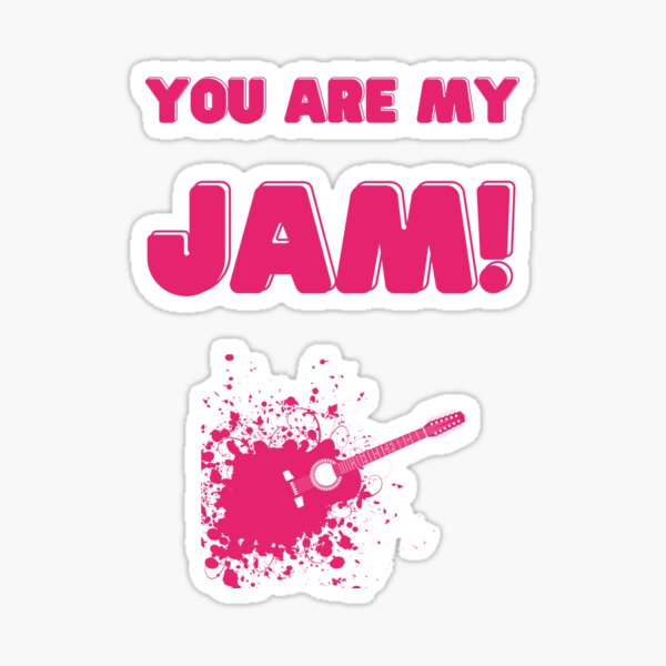 'You are my jam funny cute music pun valentines '