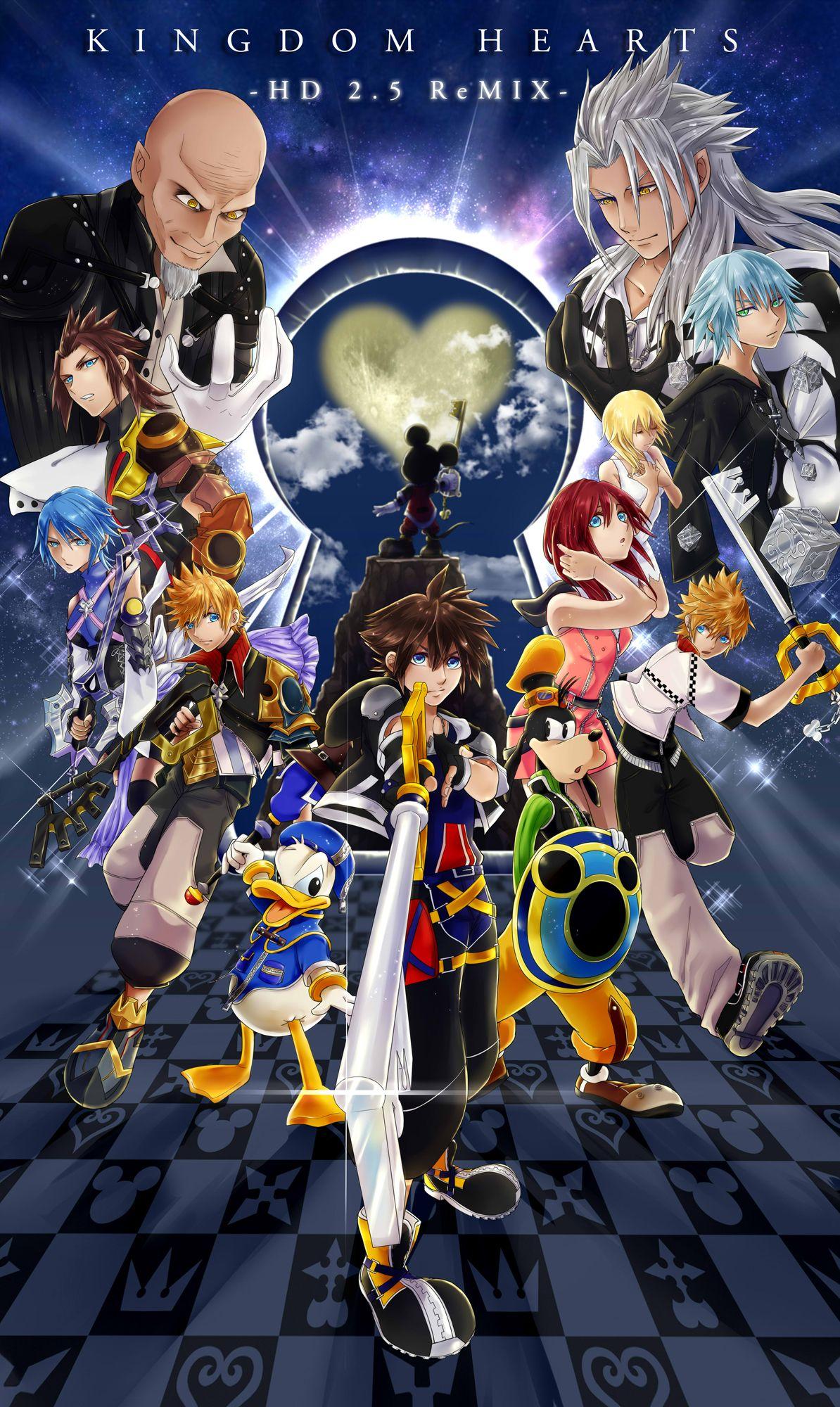 キンハ Hd2 5remix Kingdom Hearts Kingdom Hearts Fanart Kingdom Hearts Art