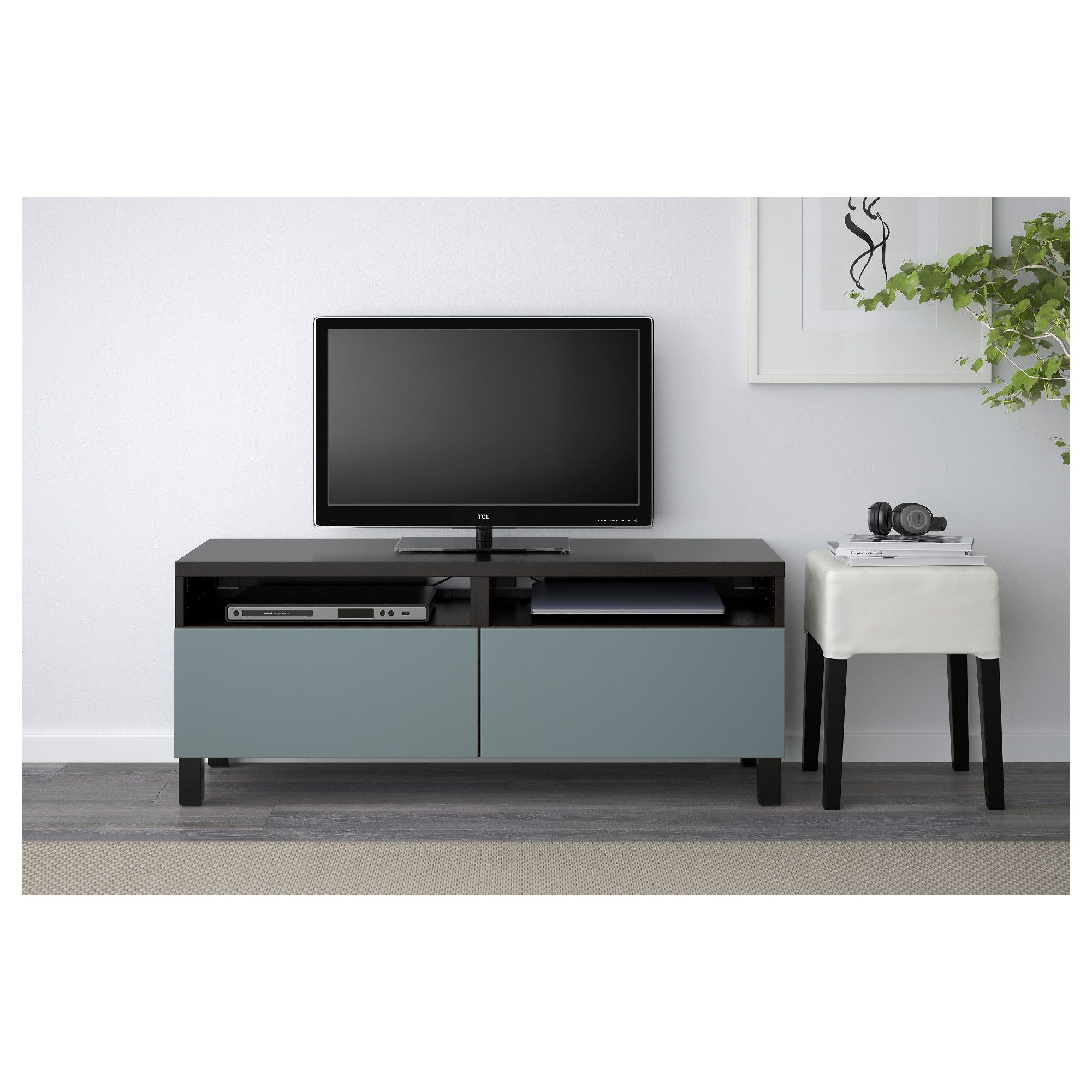 Ikea Bank Accessoires Ikea BestÅ Tv Unit With Drawers Black Brown Valviken