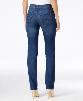 Style & Co Tummy-Control Slim-Leg Jeans, Only at Macy's - Tan/Beige 14S