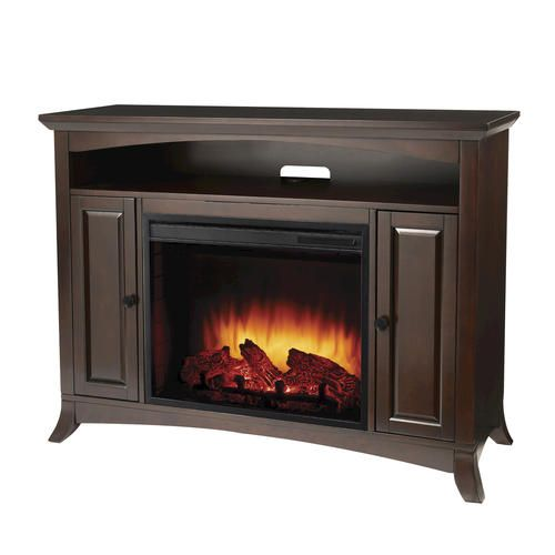 Taylor Espresso Media Electric Fireplace W Remote At Menards Fireplace Tv Stand Electric Fireplace Tv Stand Fireplace