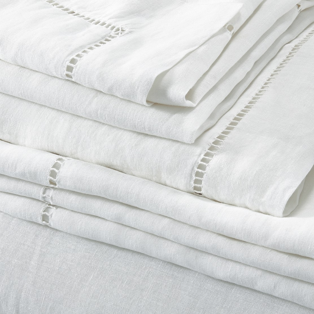 Photo of Santorini Linen Bed Linen Collection | Bed Linen Collections | The White Company