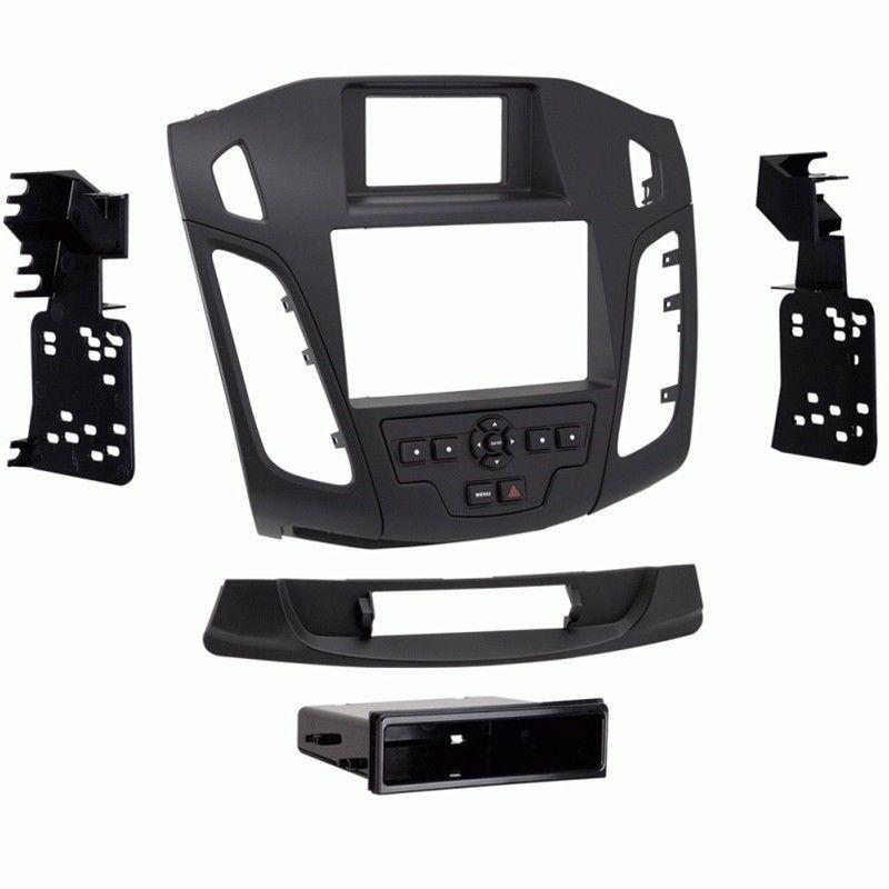 Metra 99 5843b Black Single Double Din Dash Kit For Select 2015 Up Ford Focus Ford Focus Black Singles Ford