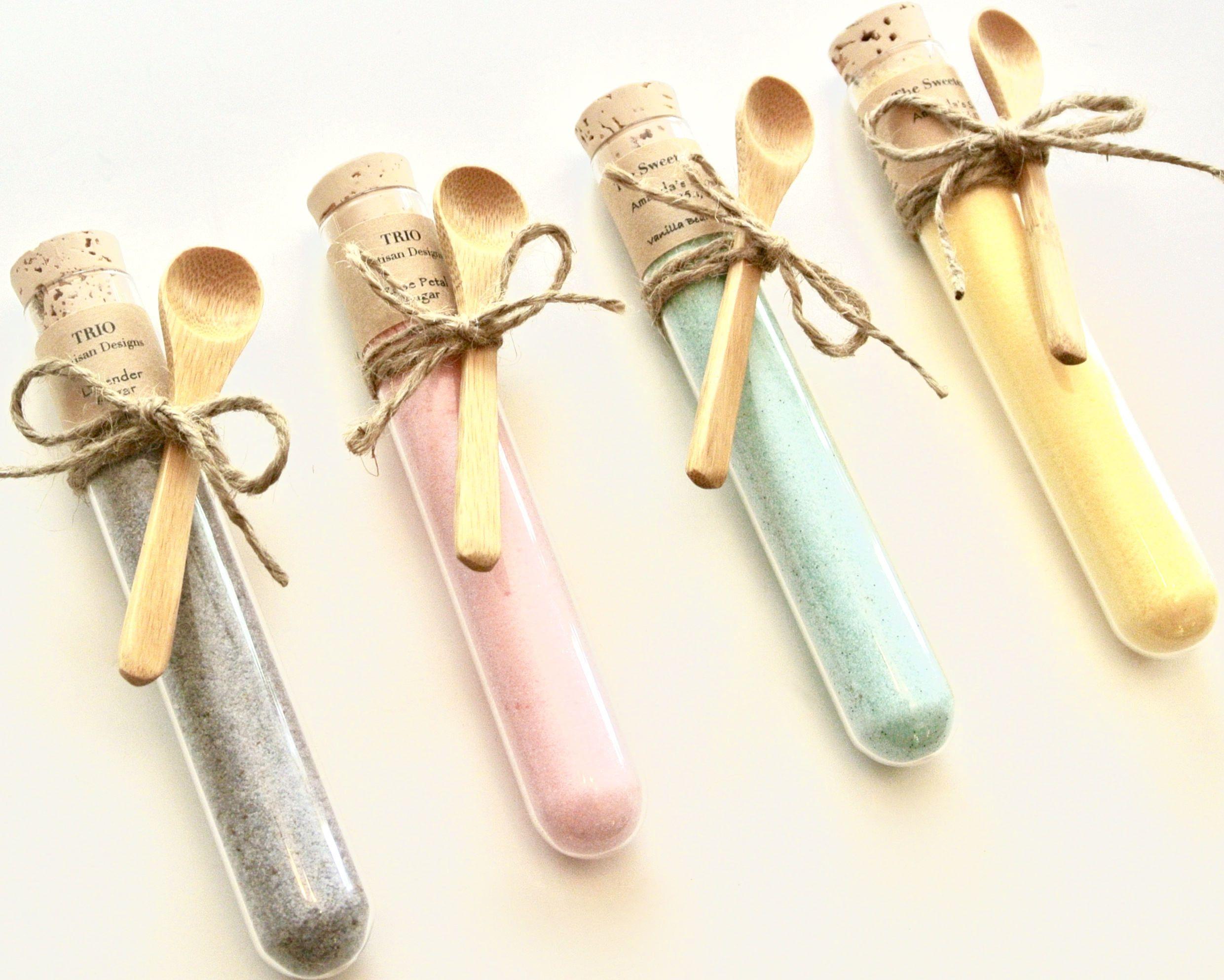 Flavored Sugar Test Tube Favor- 12 Colored Sugar Edible Wedding ...