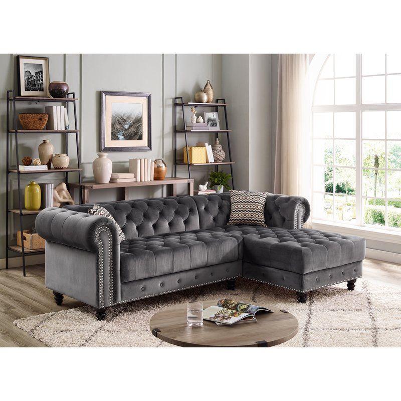 Mercer41 Newhall Sectional Wayfair Fabric Sectional Sofas Grey Sectional Sofa Sectional Sofa Couch