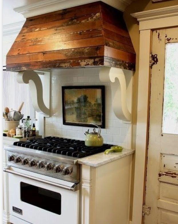 Nice reclaimed wood slat hood. Kitchen remodel, Boho