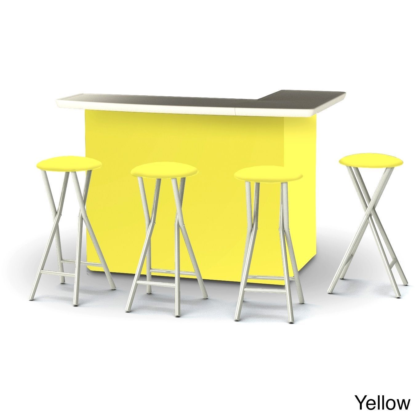 Best of times solid colors portable patio bar with stools solid