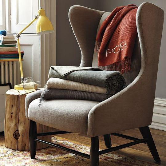 Best Gray Wingback Chairs Wingback Chair Comfy Reading Chair 400 x 300