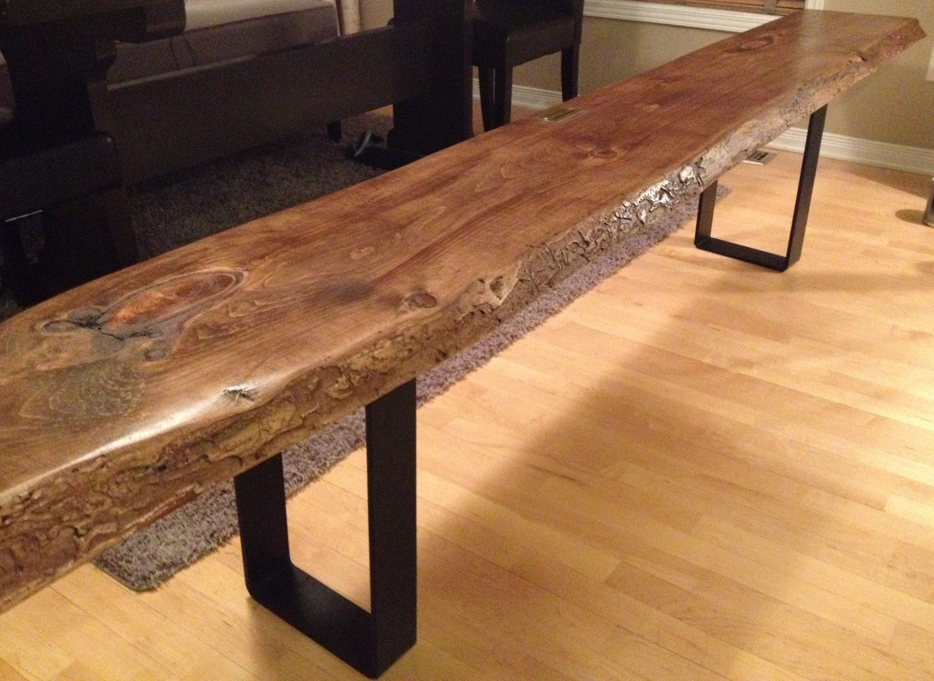 live edge table with hairpin legs, live edge coffee table with