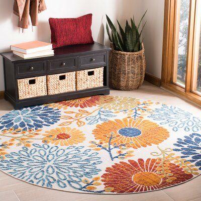 Ebern Designs Kellems Red Orange Indoor Outdoor Area Rug Polyester Rugs Indoor Outdoor Area Rugs Colorful Rugs