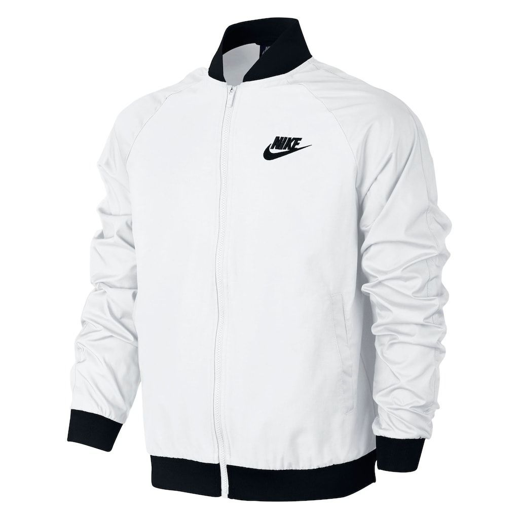 Men S Nike Players Jacket Size Xl White Nike Hoodies For Men Nike Clothes Mens Nike Bomber Jacket [ 1024 x 1024 Pixel ]