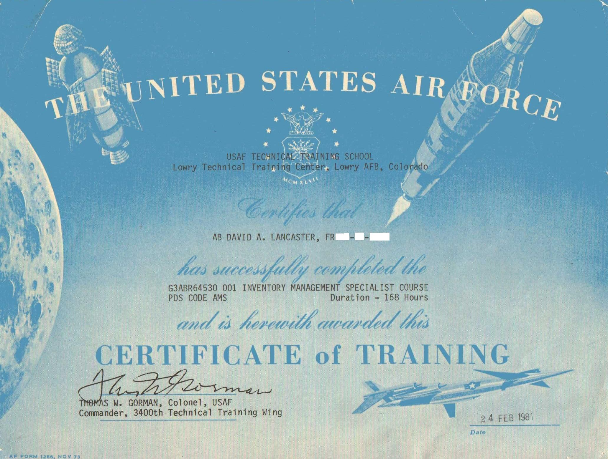 Certificate For Completing The Inventory Management Specialist