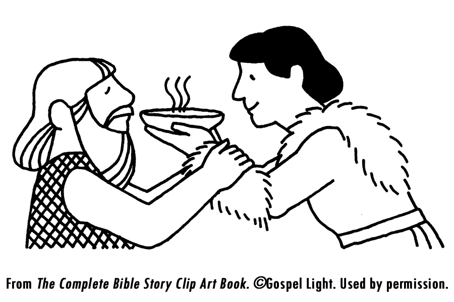 esaus birthright coloring pages - photo#11