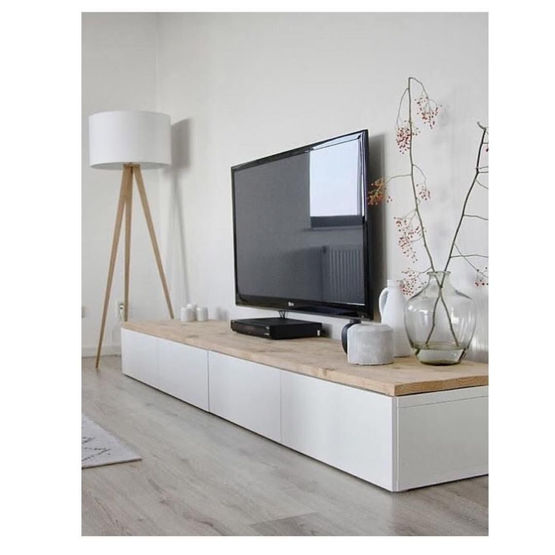 Decoration Home Pinterest # Cdiscount Long Meuble Tv Scandinave