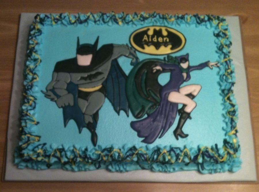 Batman amp Catwoman Childrens Birthday Cakes cakepinscom