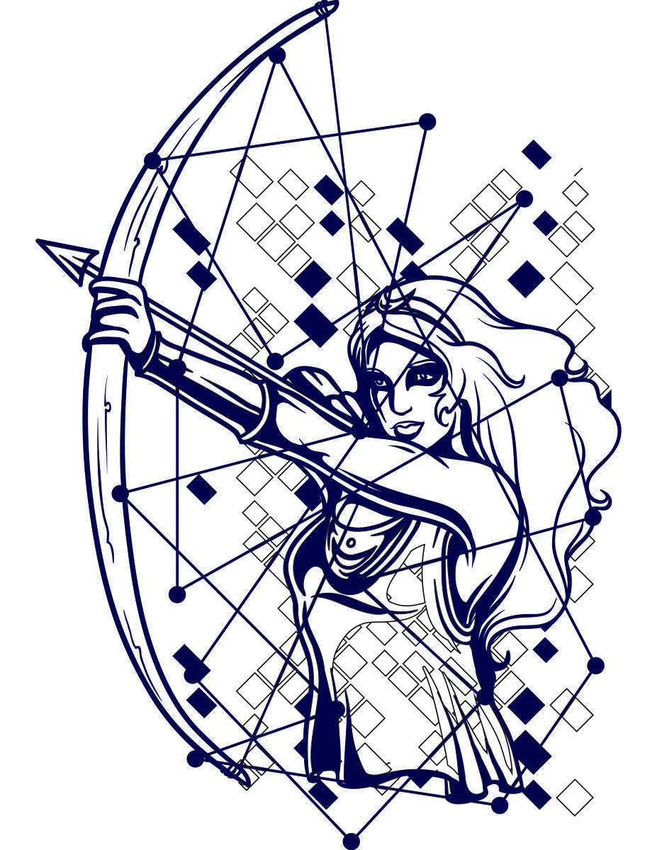 Coloriage gratuit, astrologie, constellation archer | Pinterest