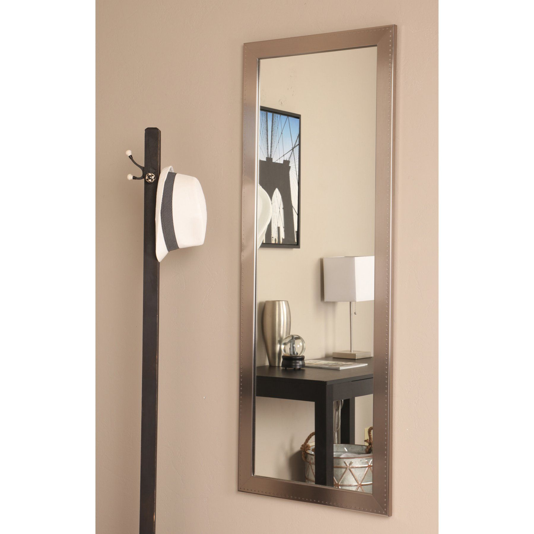 Brandtworks Embossed Silver Wall Mirror