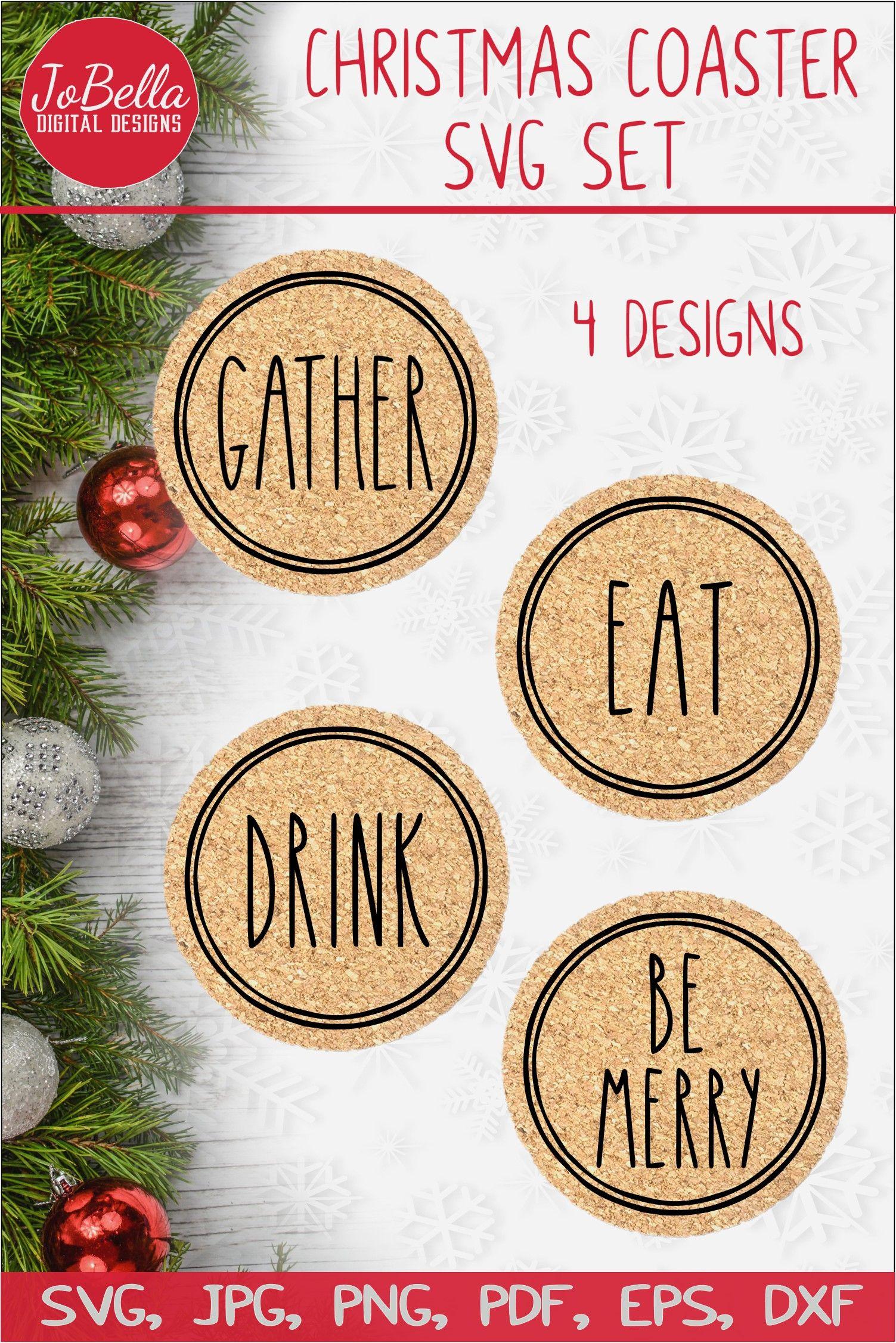 Coaster Christmas 2021 Christmas Coaster Svg Bundle In 2021 Christmas Coasters Christmas Projects Diy Christmas Svg Files