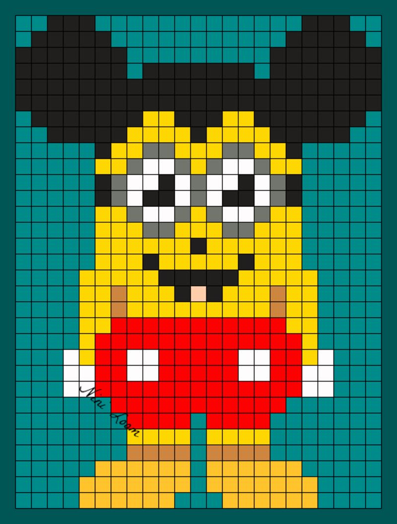 Minion Mickey Png Pixels Pinterest Wicked Hama Et
