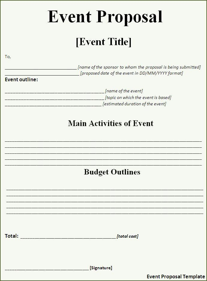 Image result for contracts for event planners templates Event - Sample Contract Proposal Template