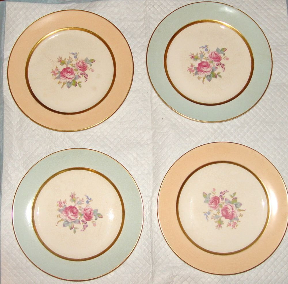POPE GOSSER CHINA- 4 DINNER PLATES-MADE IN USA-WARRANTED COIN GOLD #  sc 1 st  Pinterest & POPE GOSSER CHINA- 4 DINNER PLATES-MADE IN USA-WARRANTED COIN GOLD ...