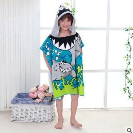 Size 90 60cm Children Cartoon Baby Hooded Bath Towel Childrens